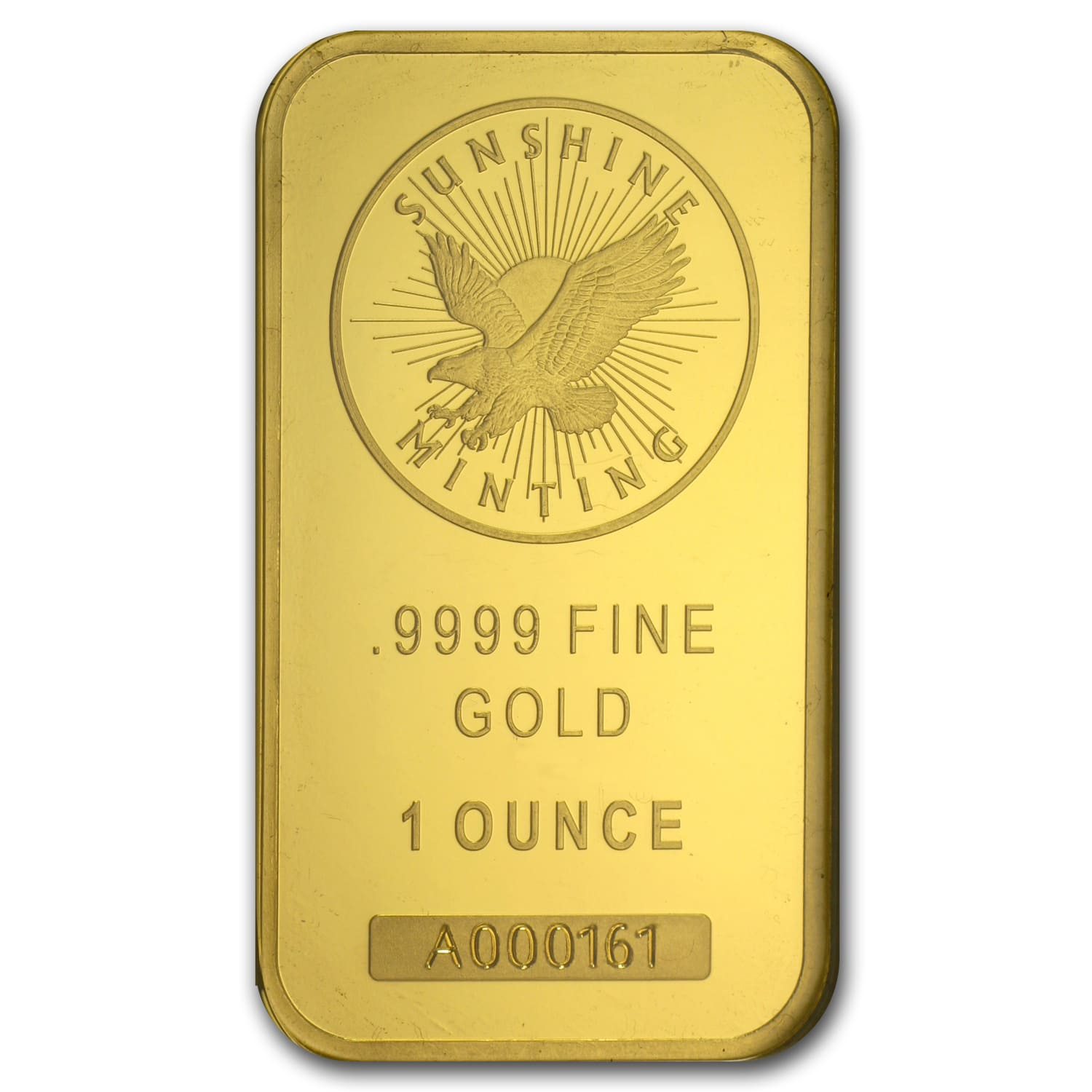 1 oz Gold Bar - Sunshine Mint New Design (In TEP Packaging)
